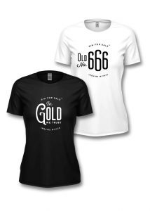 Sin for Sale girly tees In Gold We Trust, Old No. 666