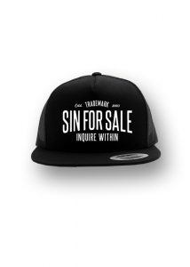 Sin for Sale embroidered trucker hat